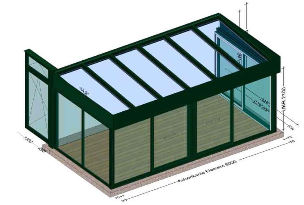 Moderne Wintergärten mit Flachdach - Planung