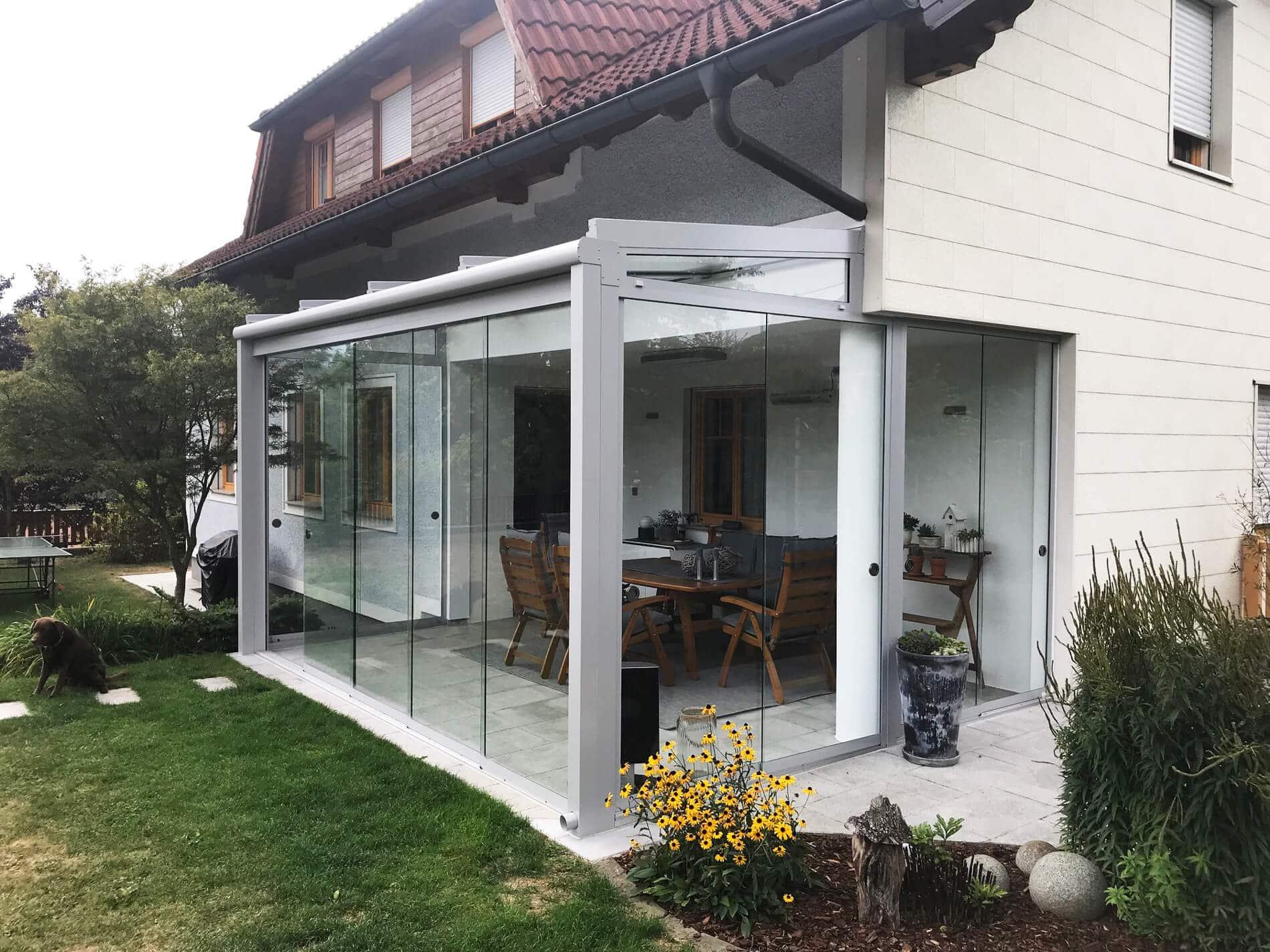 Moderner Glas Wintergarten von Schmidinger