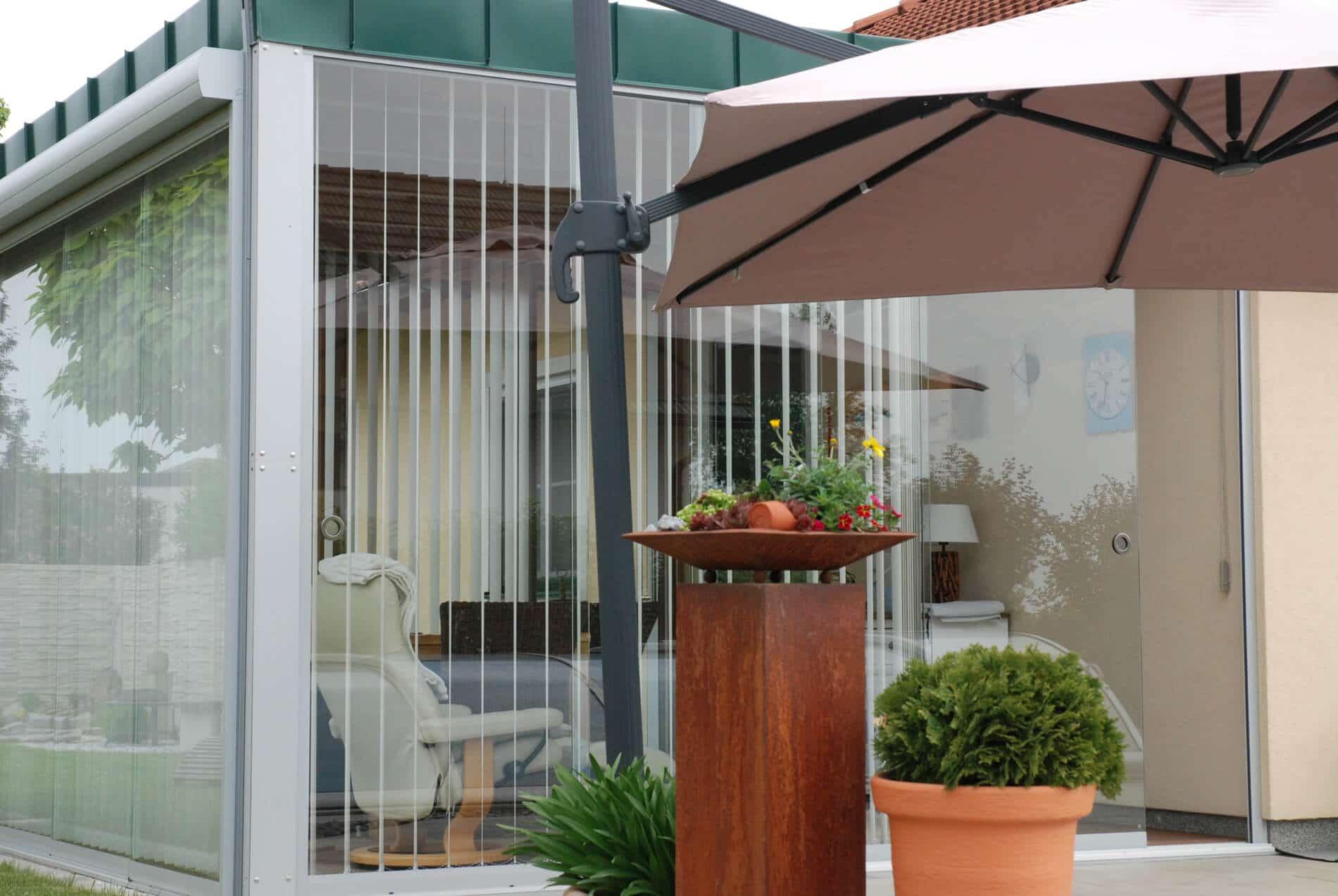 Moderner Wintergarten Anbau Glas