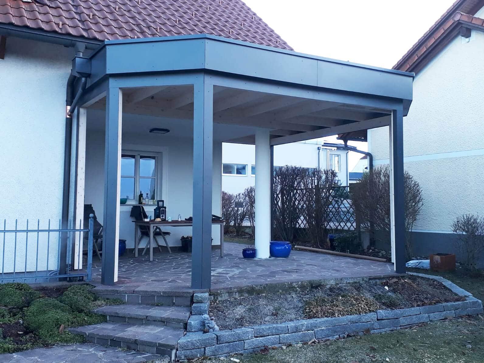 Montage Holz-Aluminium Wintergarten