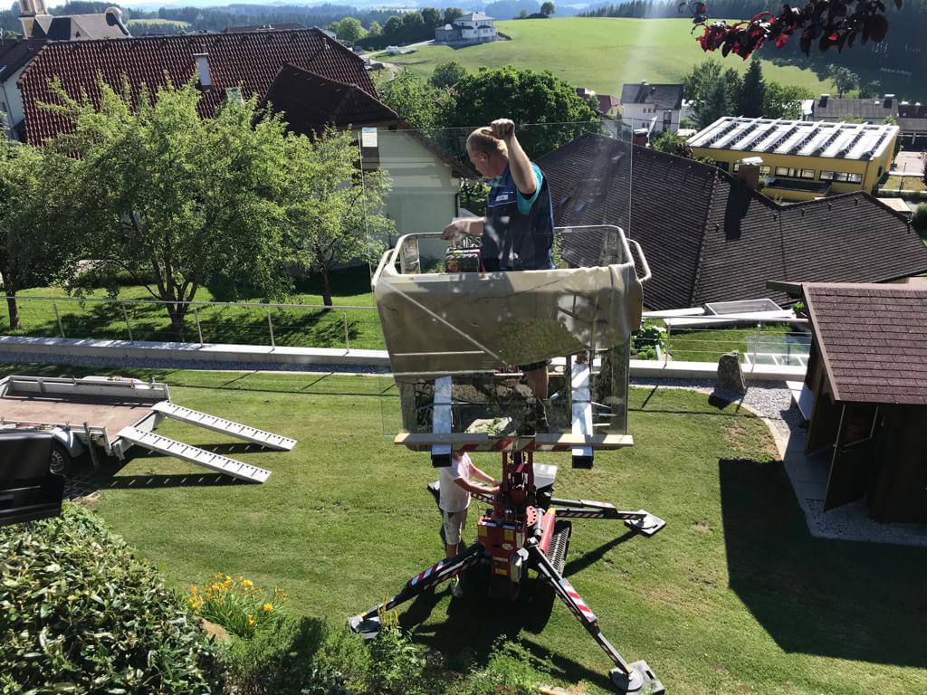 Montage Terrassenüberdachung Alu OÖ