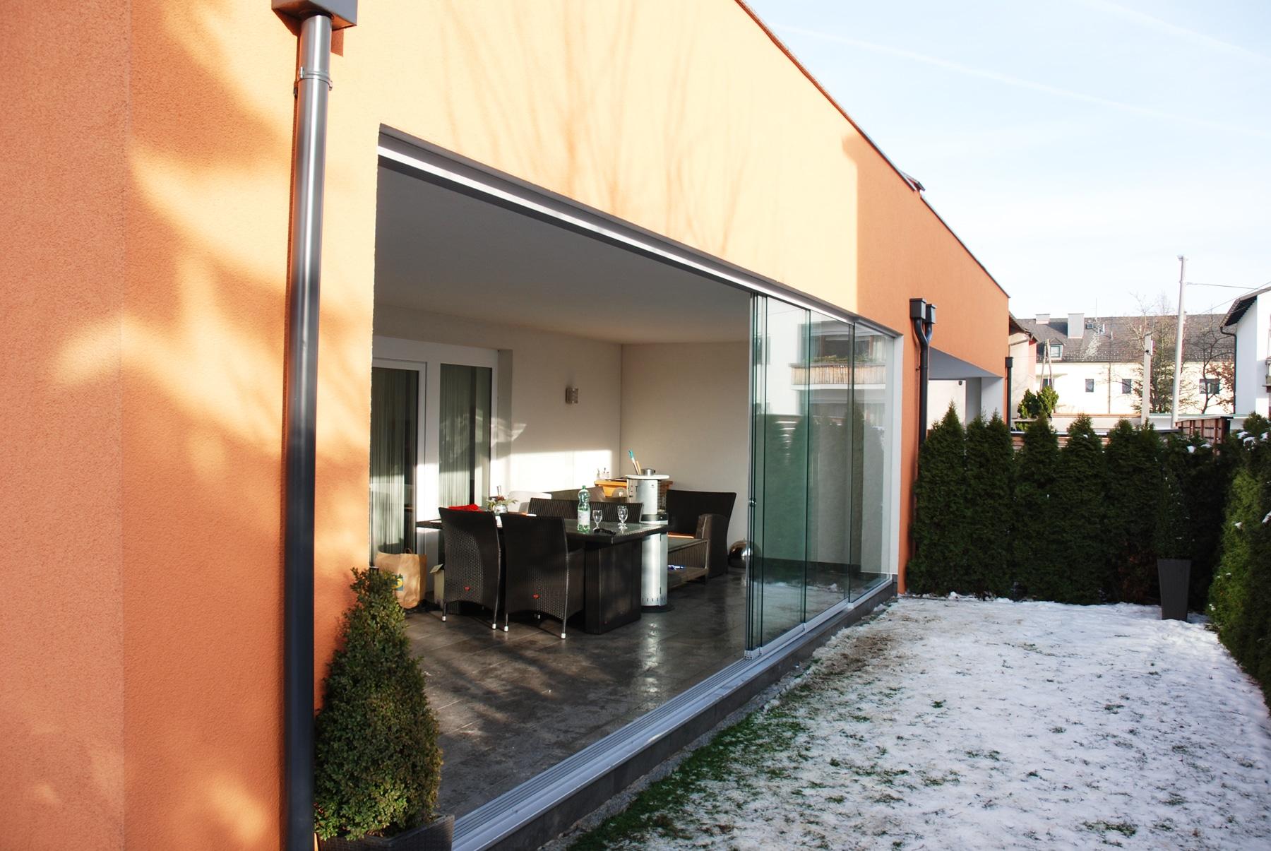 wintergarten schiebet ren aluminium wintergarten schmidinger. Black Bedroom Furniture Sets. Home Design Ideas