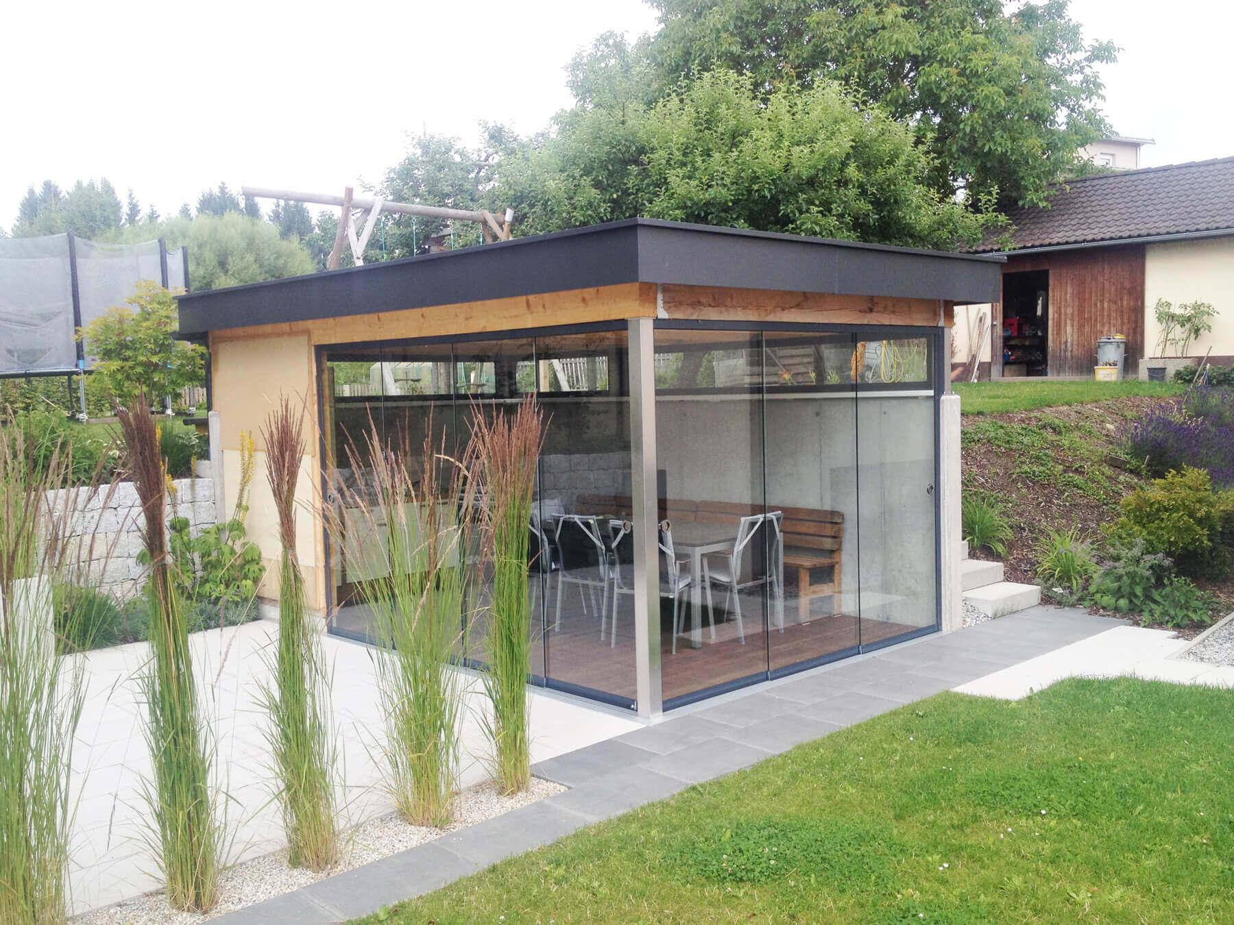 Outdoor Küche Wintergarten : Outdoor küche mit windschutz zum schieben wintergarten schmidinger