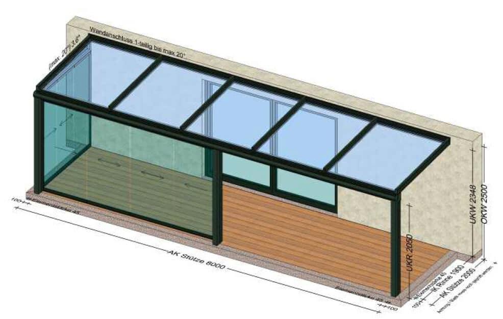 Planung Terrassenüberdachung für eine Terrasse