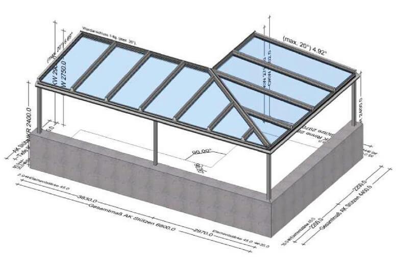 Planung vom Wintergartenbauer