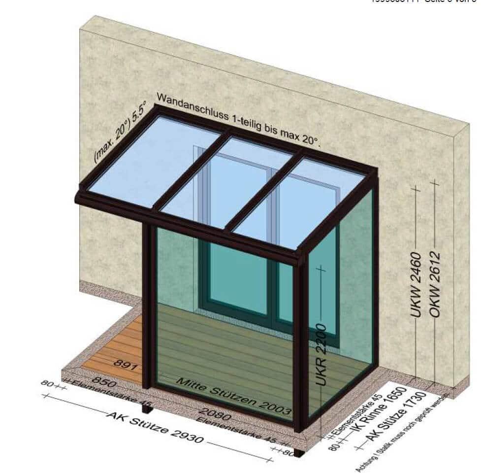 Planung Windfänge für Eingangsbereich in Alu