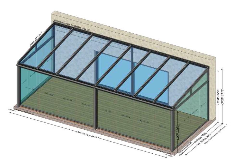 Planungsskizze Sommergarten 9x4 Meter