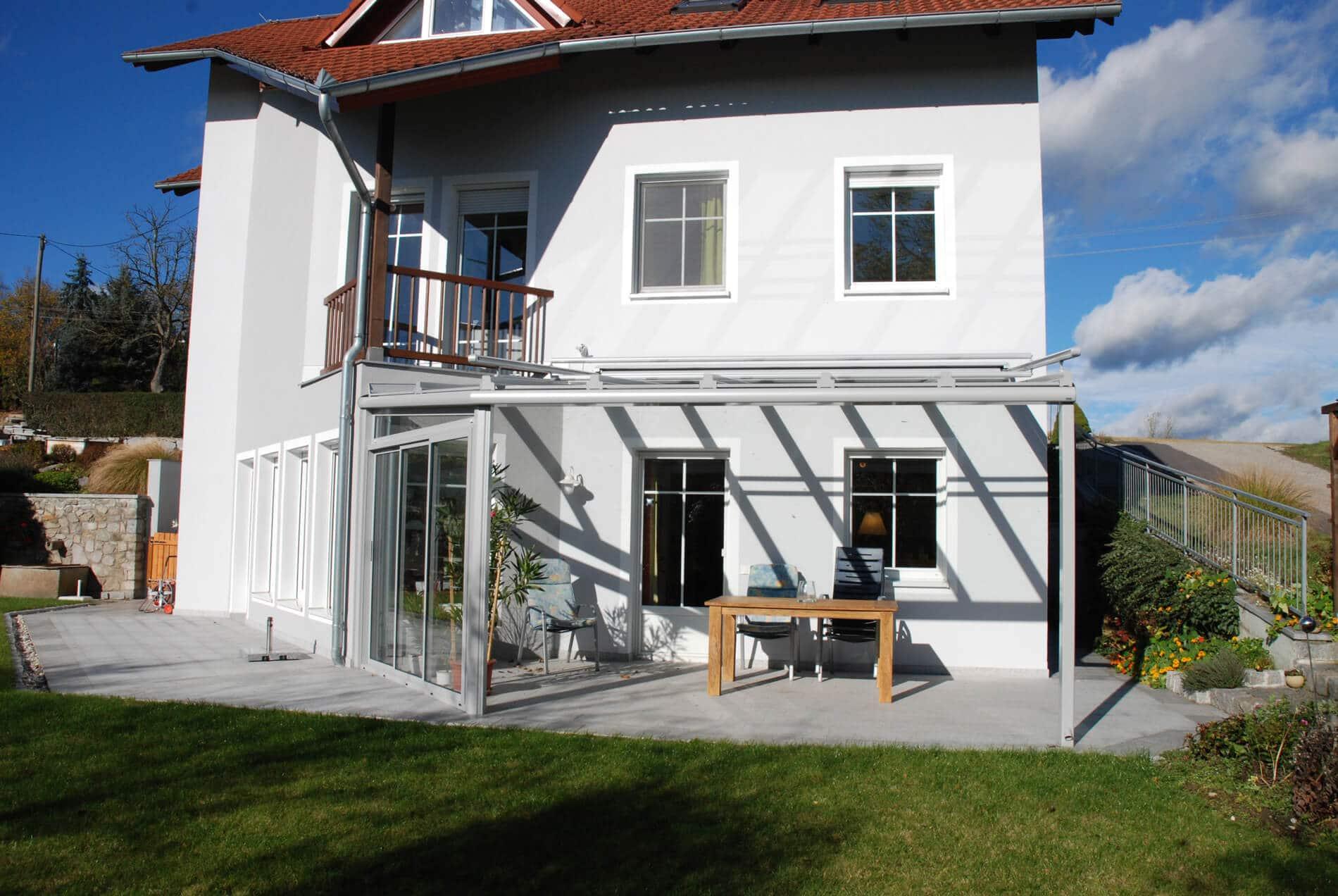 Referenzen Terrassenüberdachung Einfamilienhaus