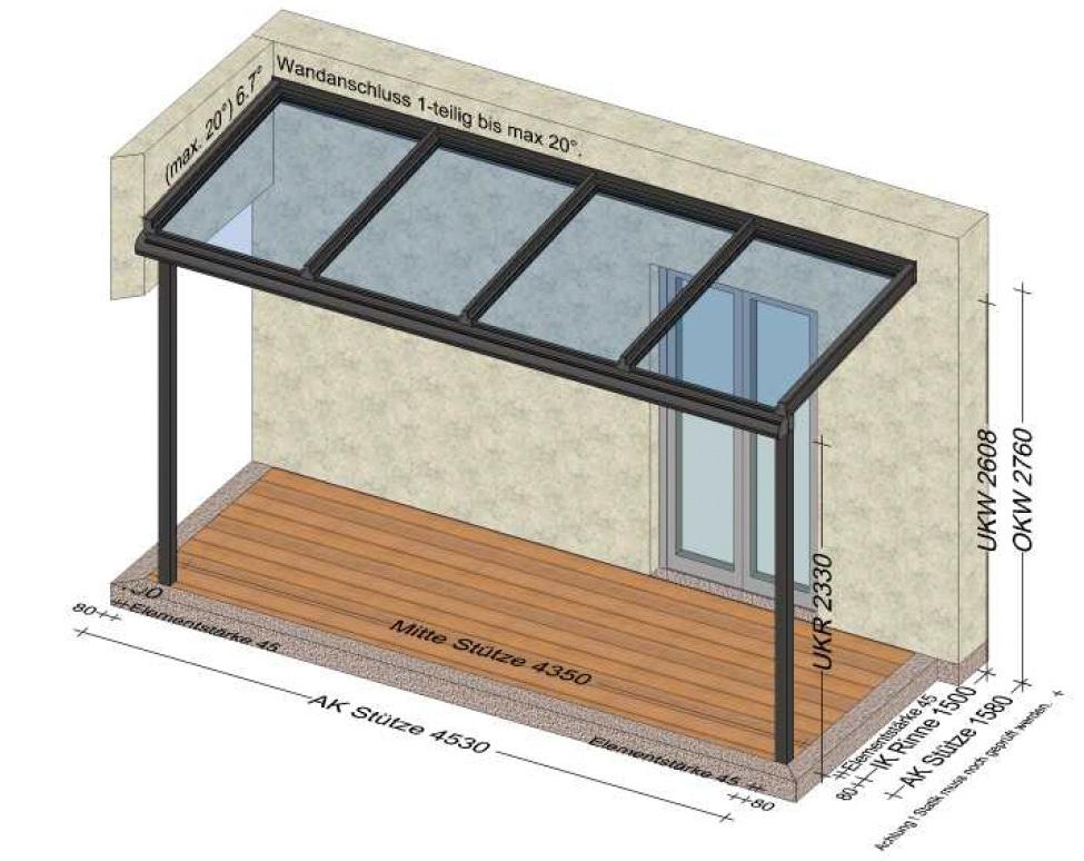 Regenschutz Überdachung Terrasse