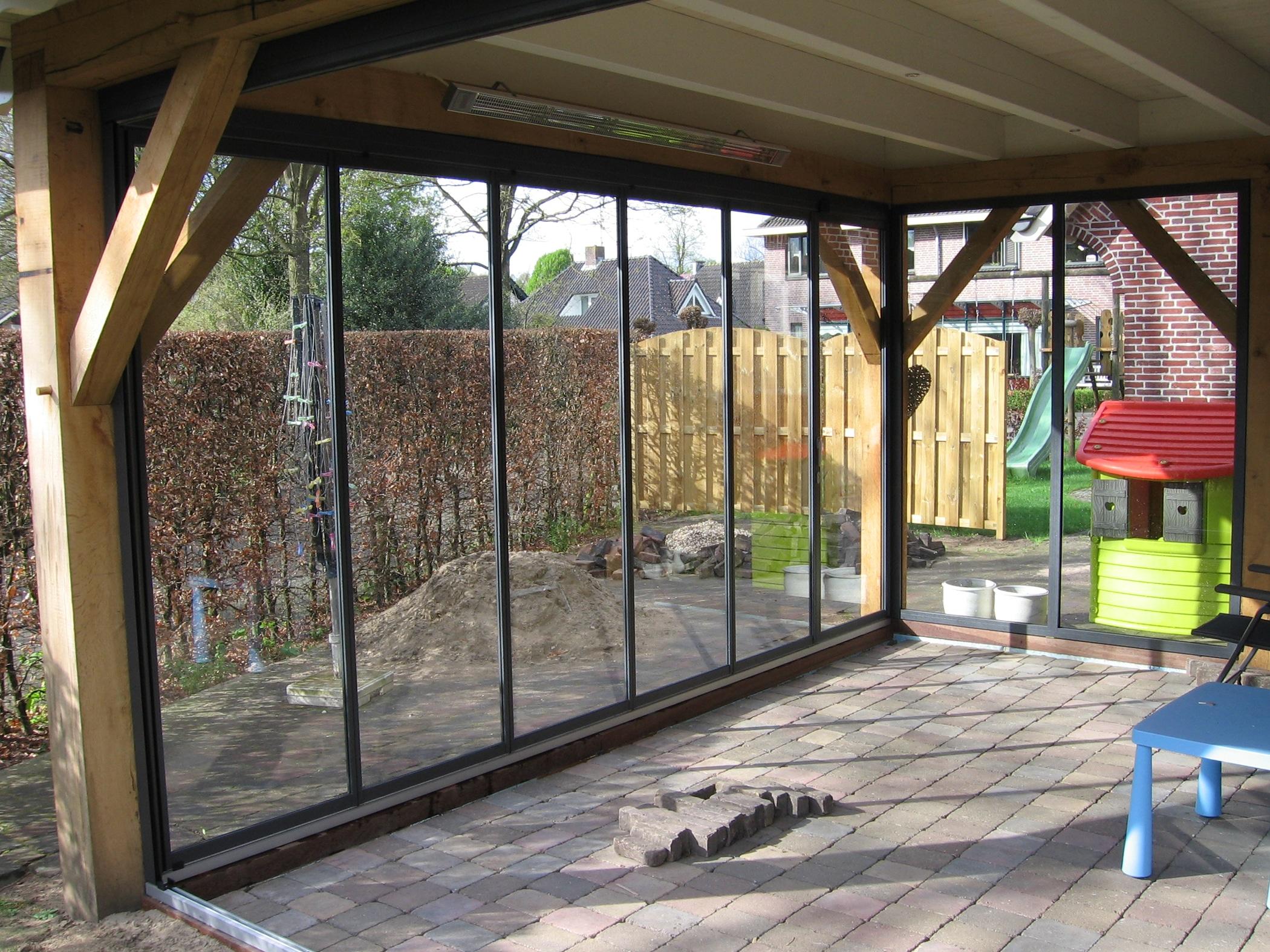 Schiebe Dreh Verglasungssysteme für bestehende Holz Überdachung