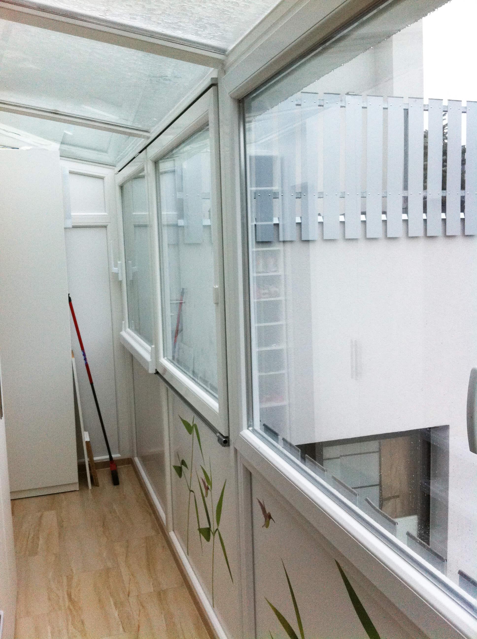 Schiebefenster Balkonverglasung