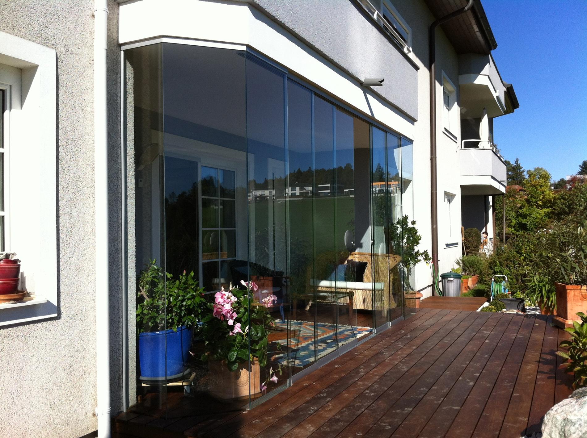 Schiebefenster für Terrasse