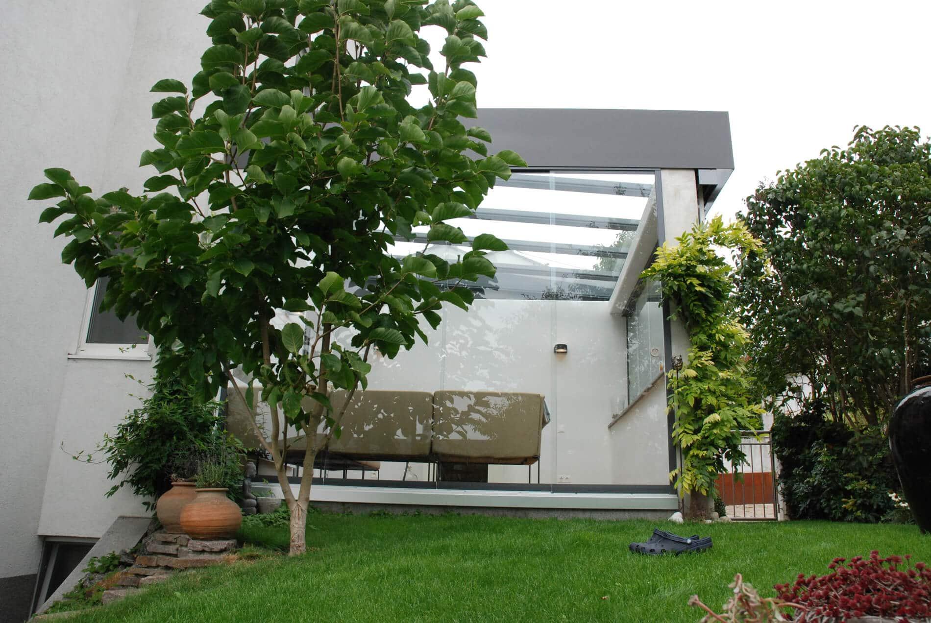 Schiebeglastüren Wintergarten