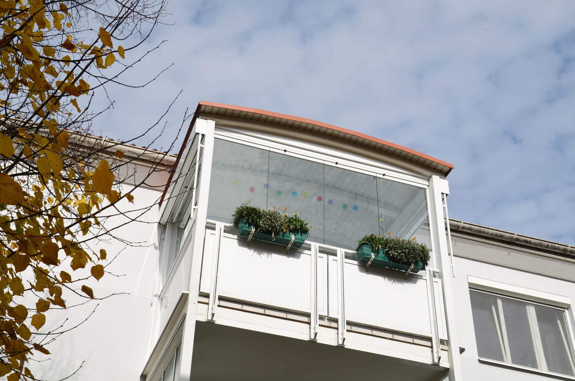 Schiebesystem für Balkonverglasungen