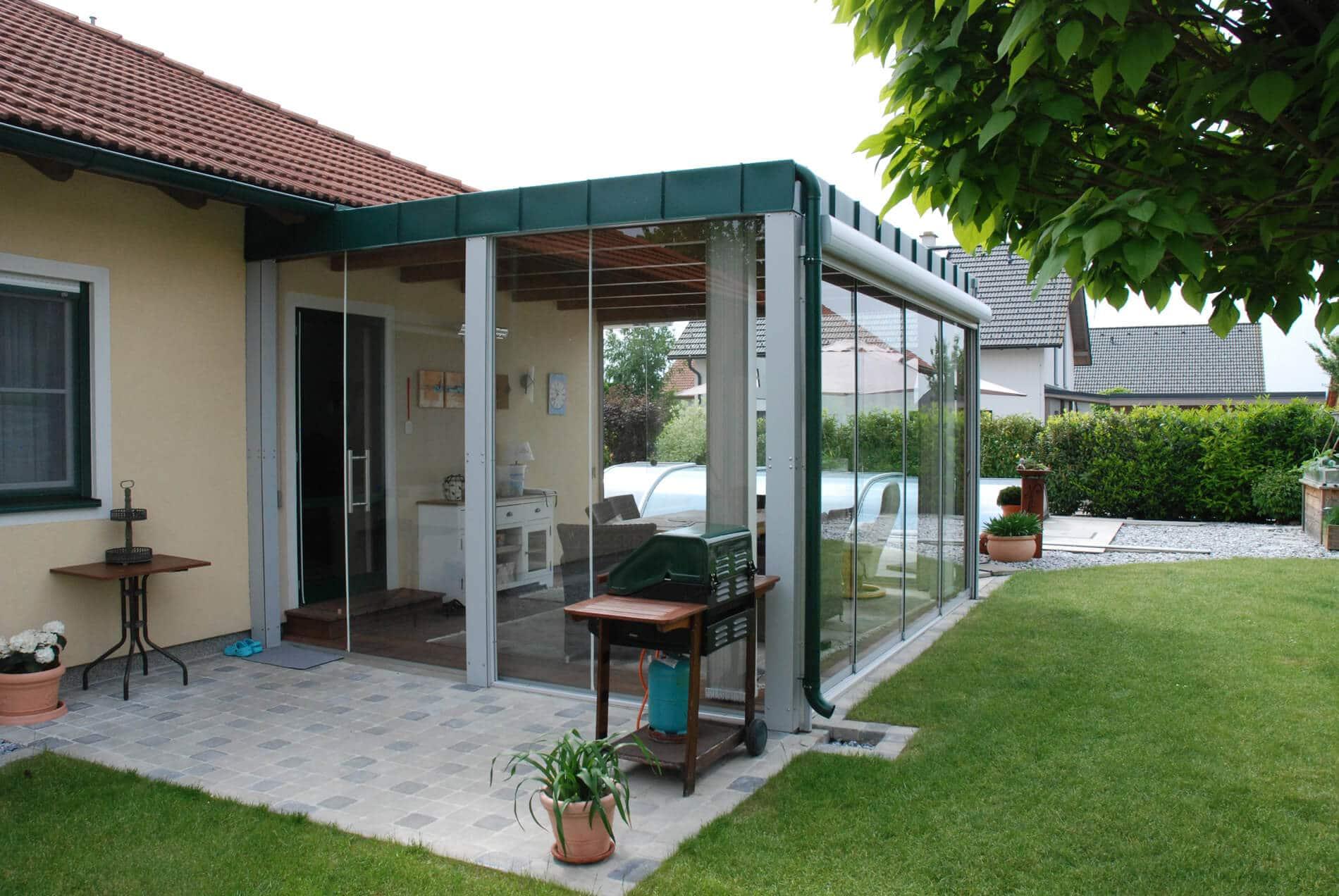 Schiebesystem Glas für Wintergarten