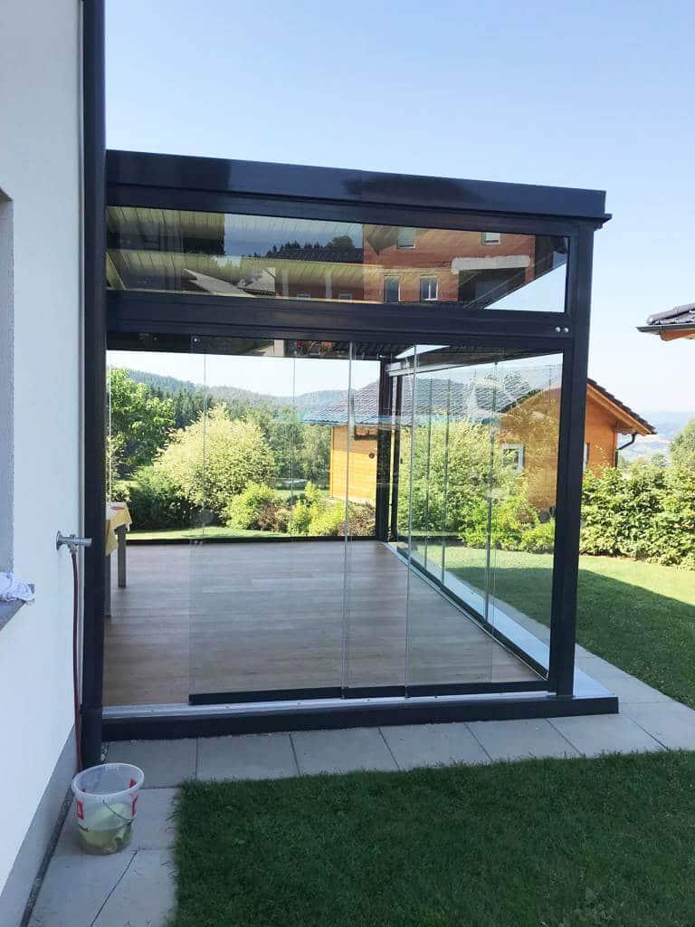 Schiebesystem Glas Terrasse