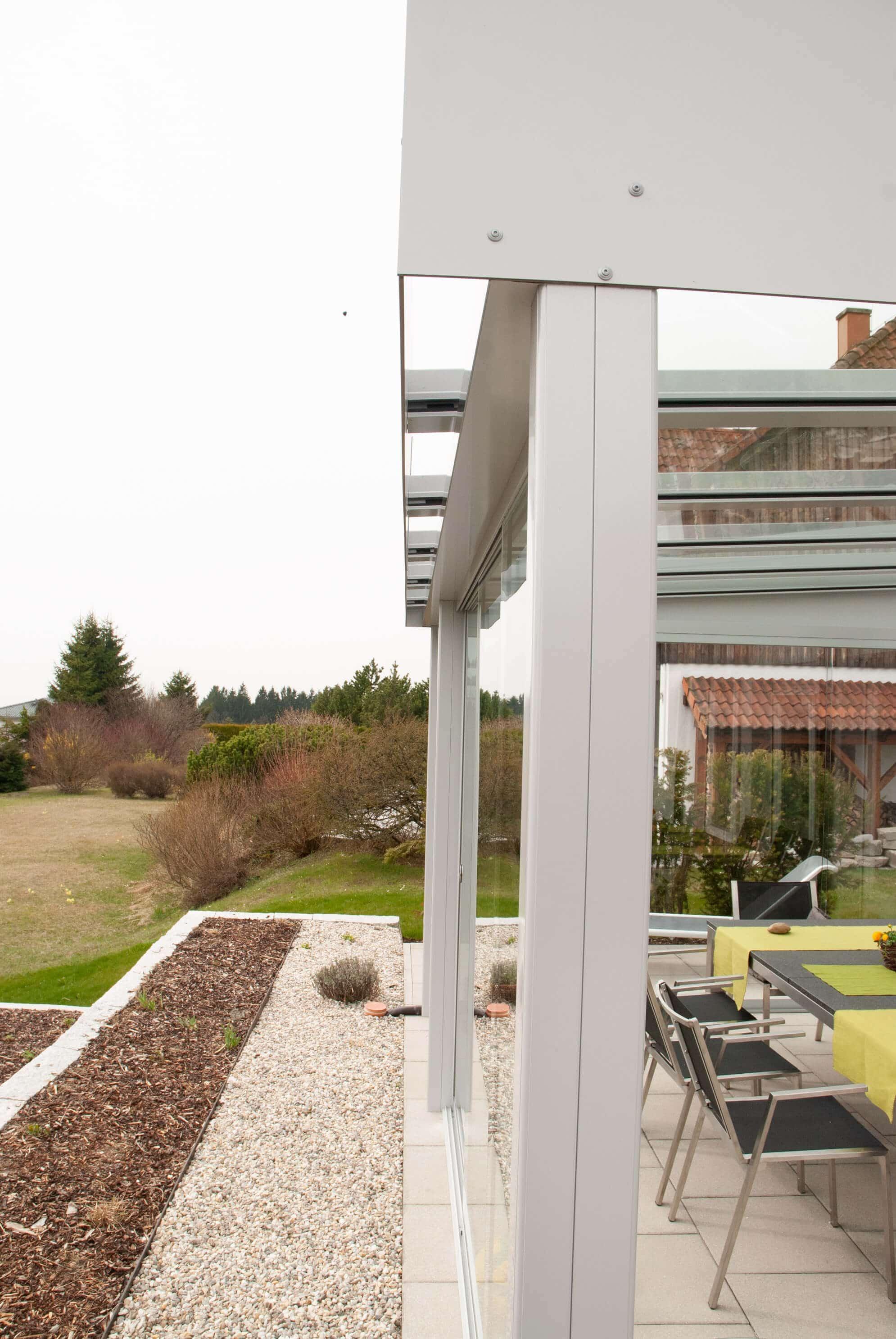 Schiebesysteme für Glasüberdachungen