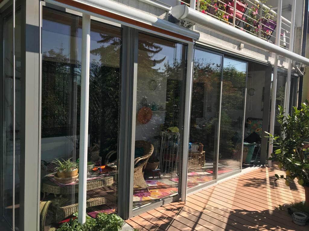 Schiebetür Terrassenverglasung