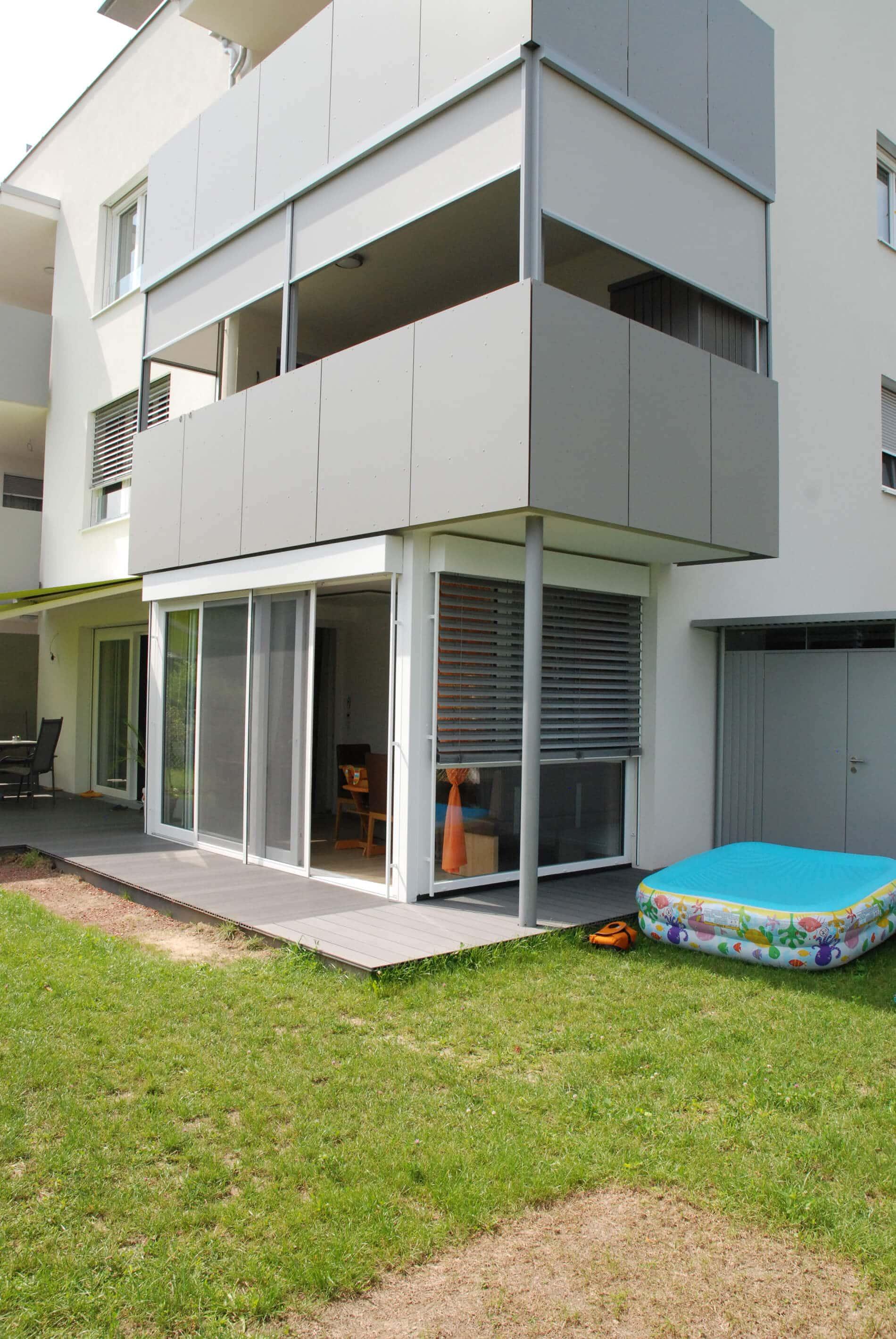 Schiebetür weiß mit Dreifachverglasung für Terrasse