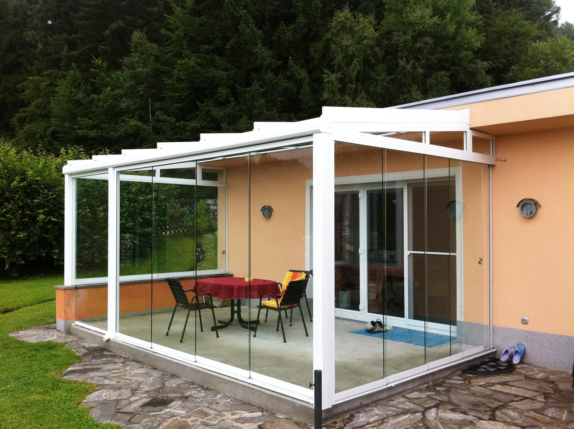 Schiebetüren aus Glas für Wintergärten