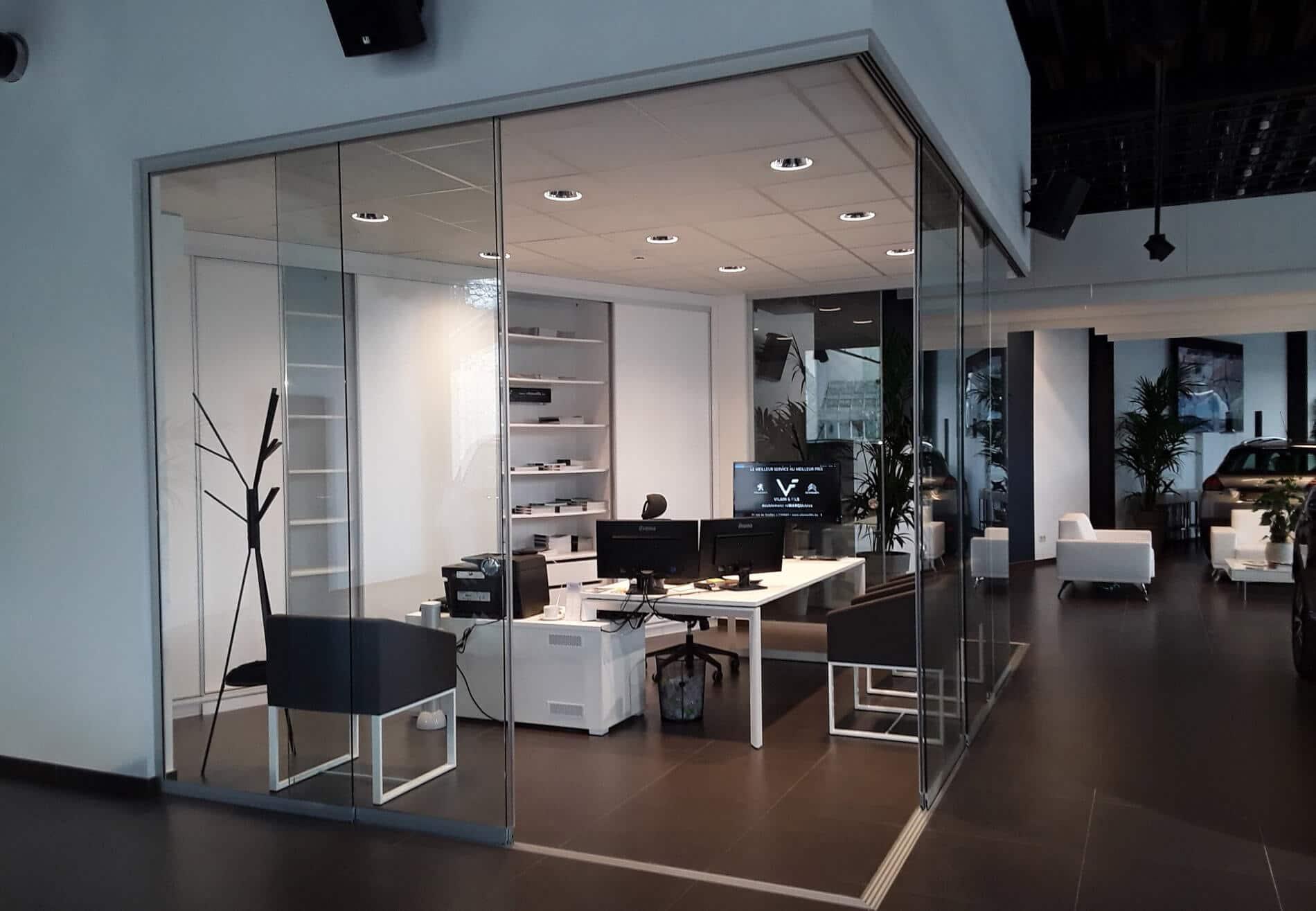 Schiebetüren Innenbereich für Besprechungsraum Firma