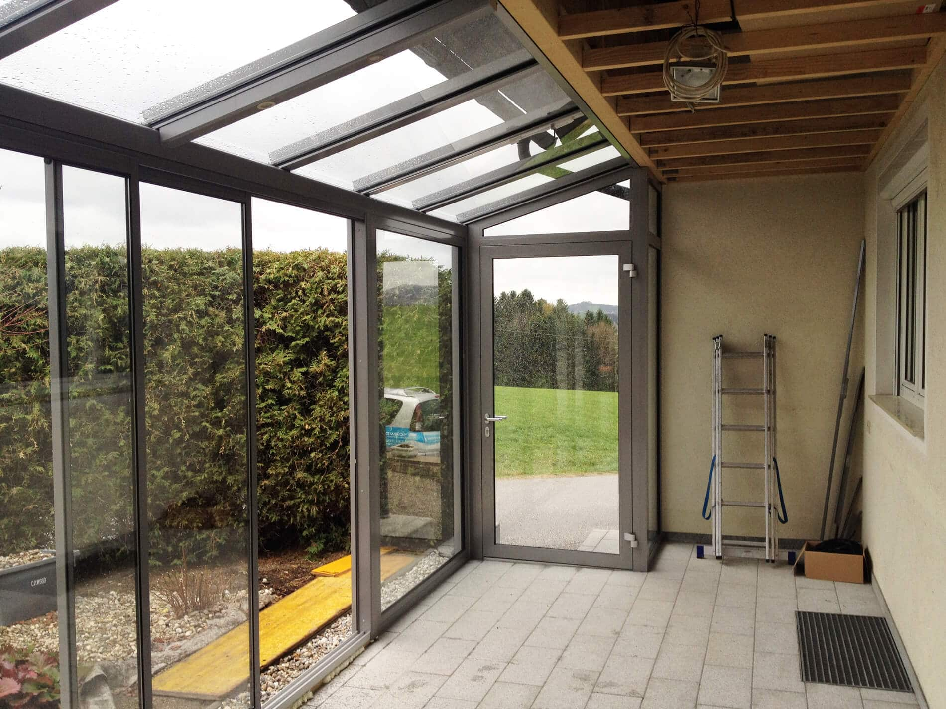 Schiebetürsysteme Aluminium für Wintergarten