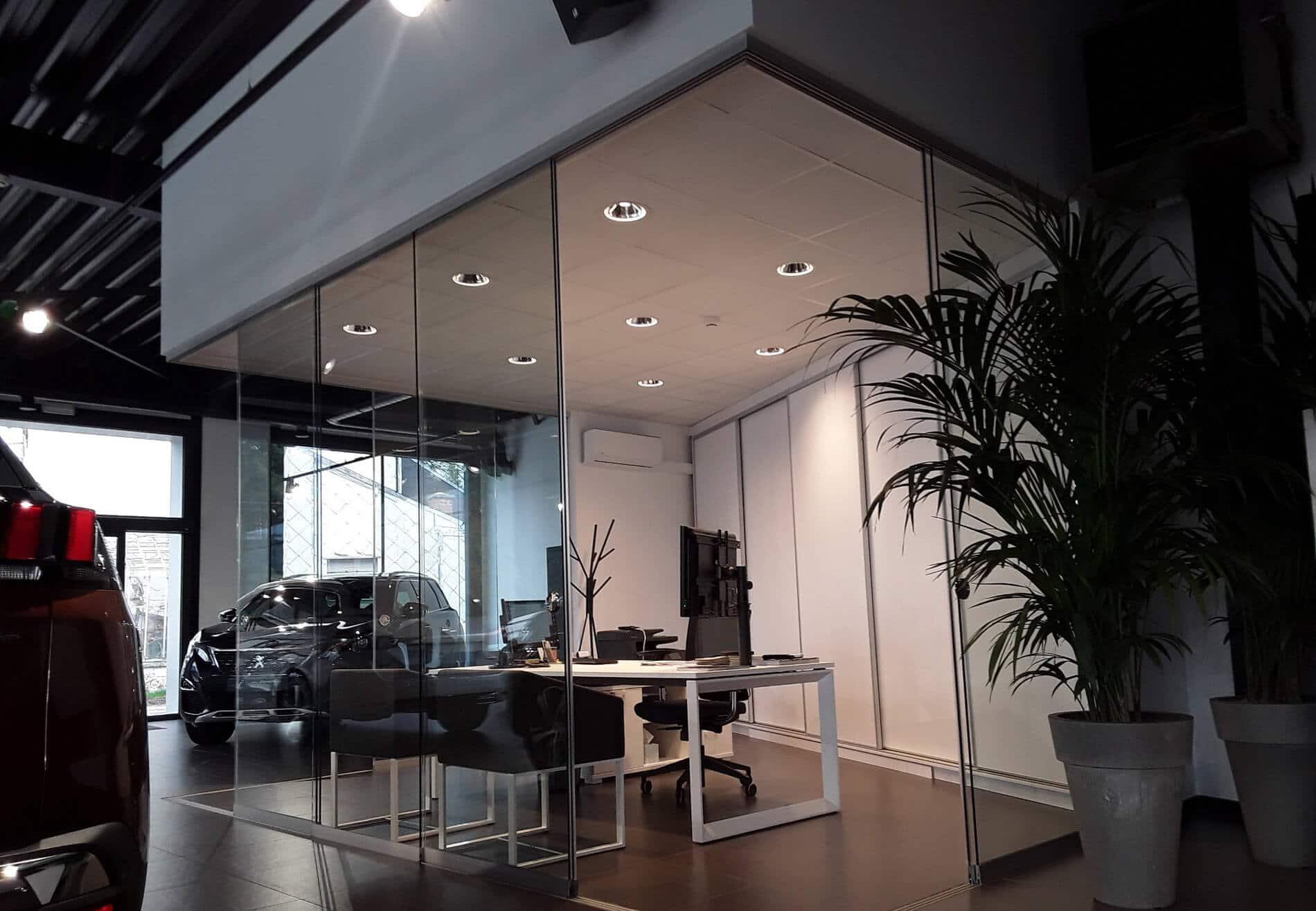 Schiebetüren Glas für innen für Büro