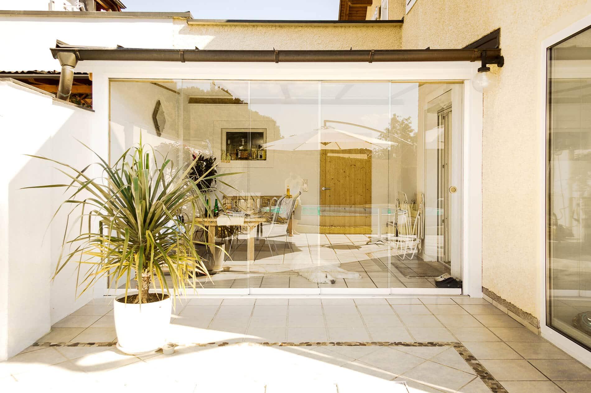 Schiebeverglasungen für Terrassen
