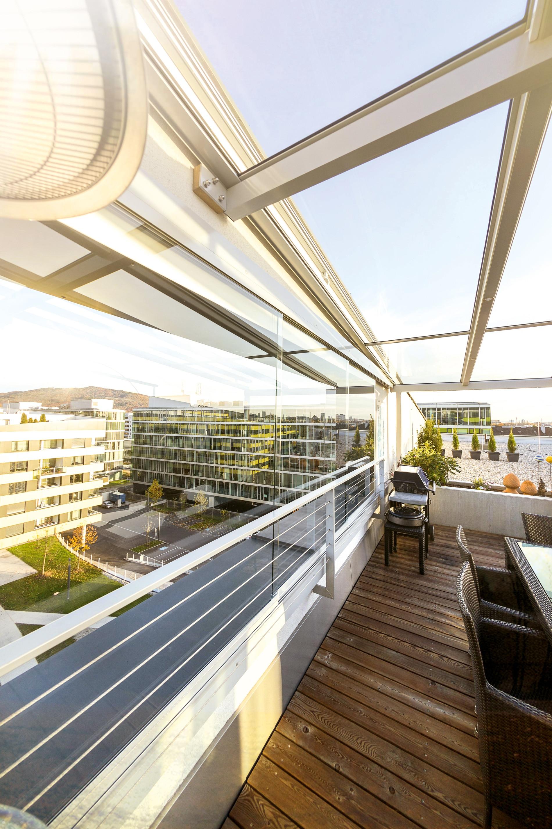 Seitenwände für Terrassenüberdachung