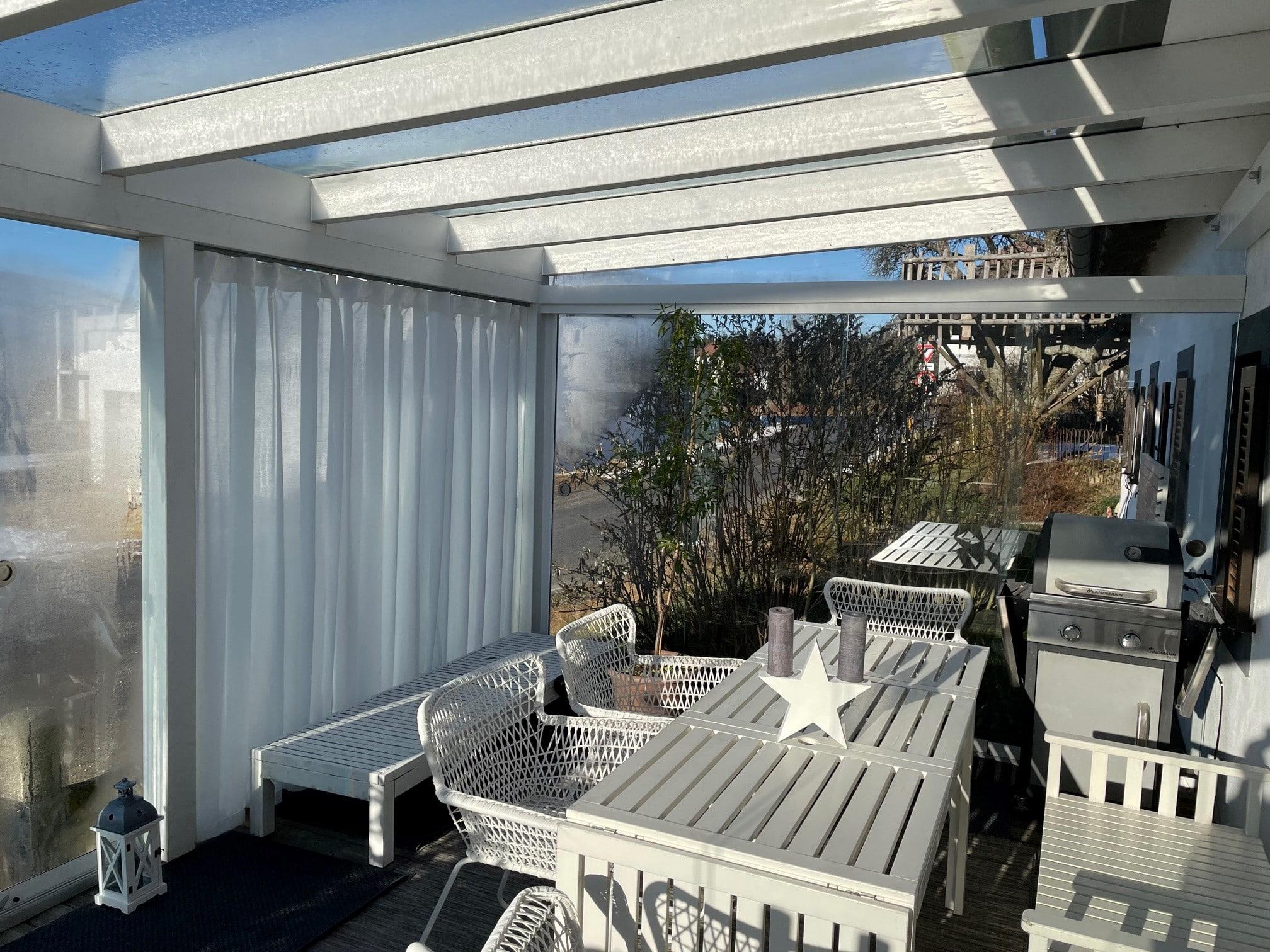 Seitenwand Glas Terrasse - Oberösterreich