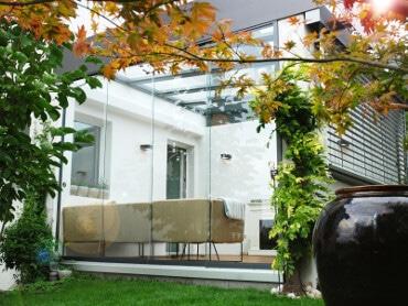 Sommergarten Glasschiebetüren