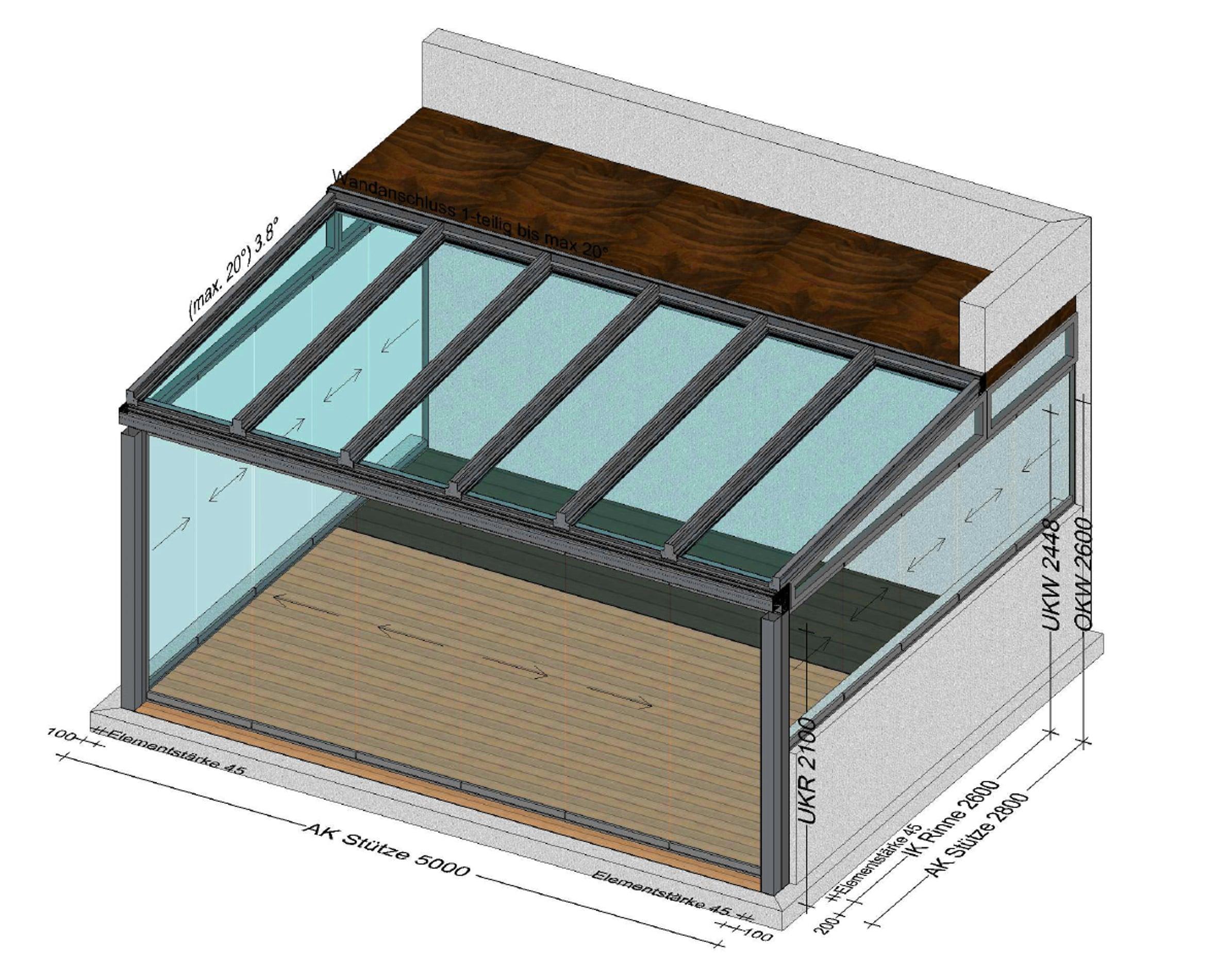 Sommergarten 3-seitig mit Schiebefenstern von Schmidinger