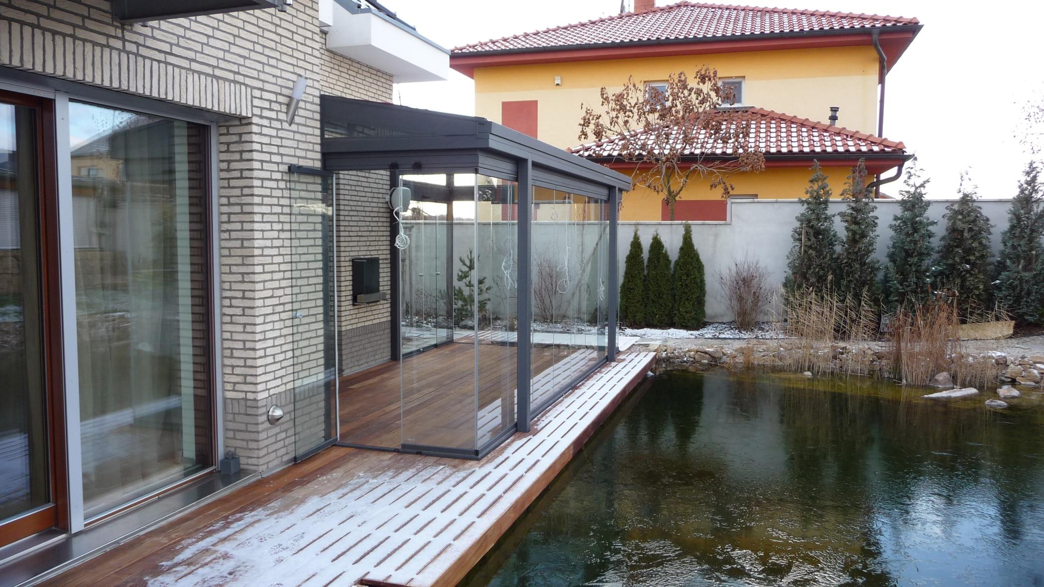 Sommergarten Alu Glas zum Schieben