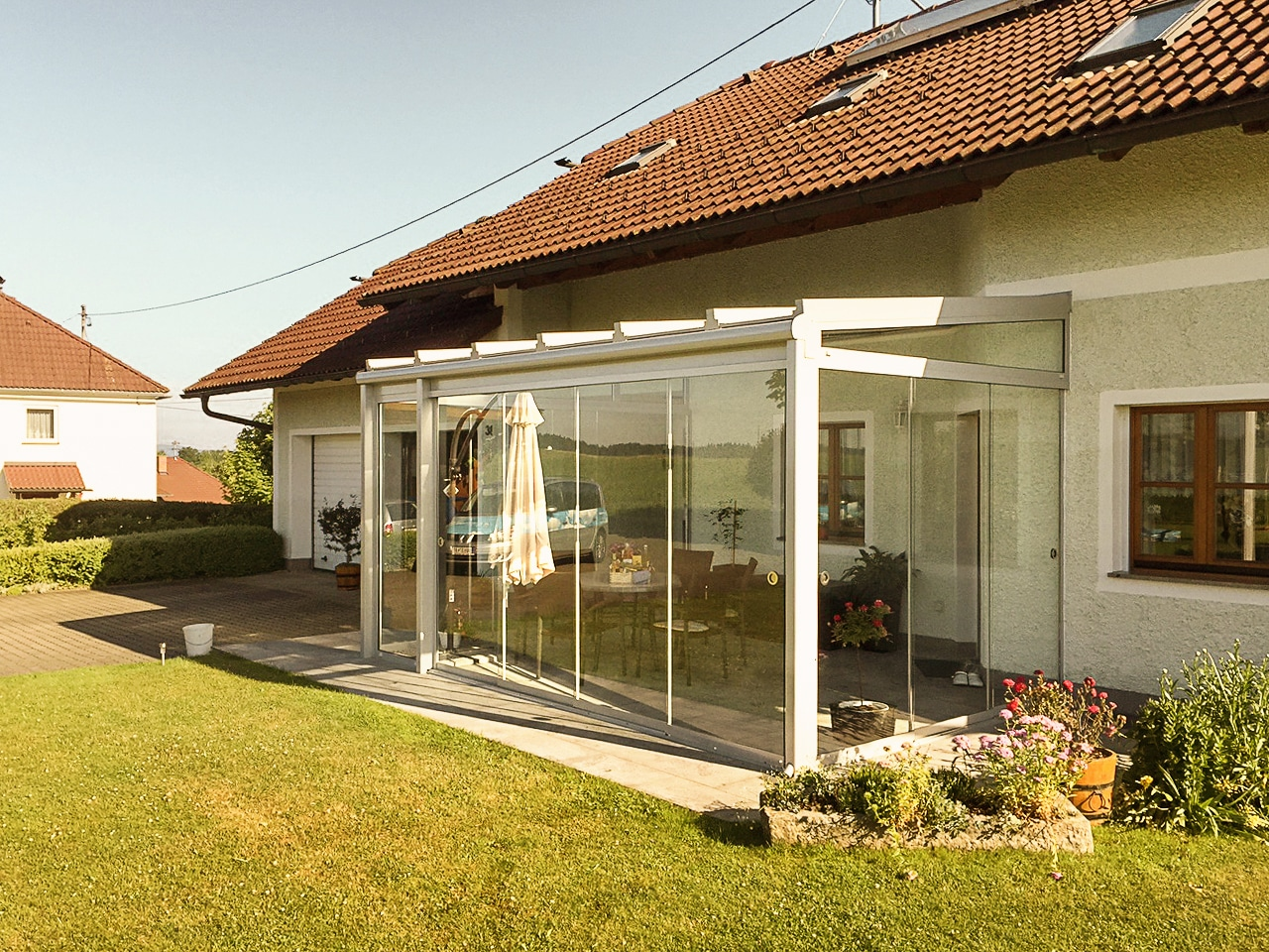 Sommergarten Aluminium Glas