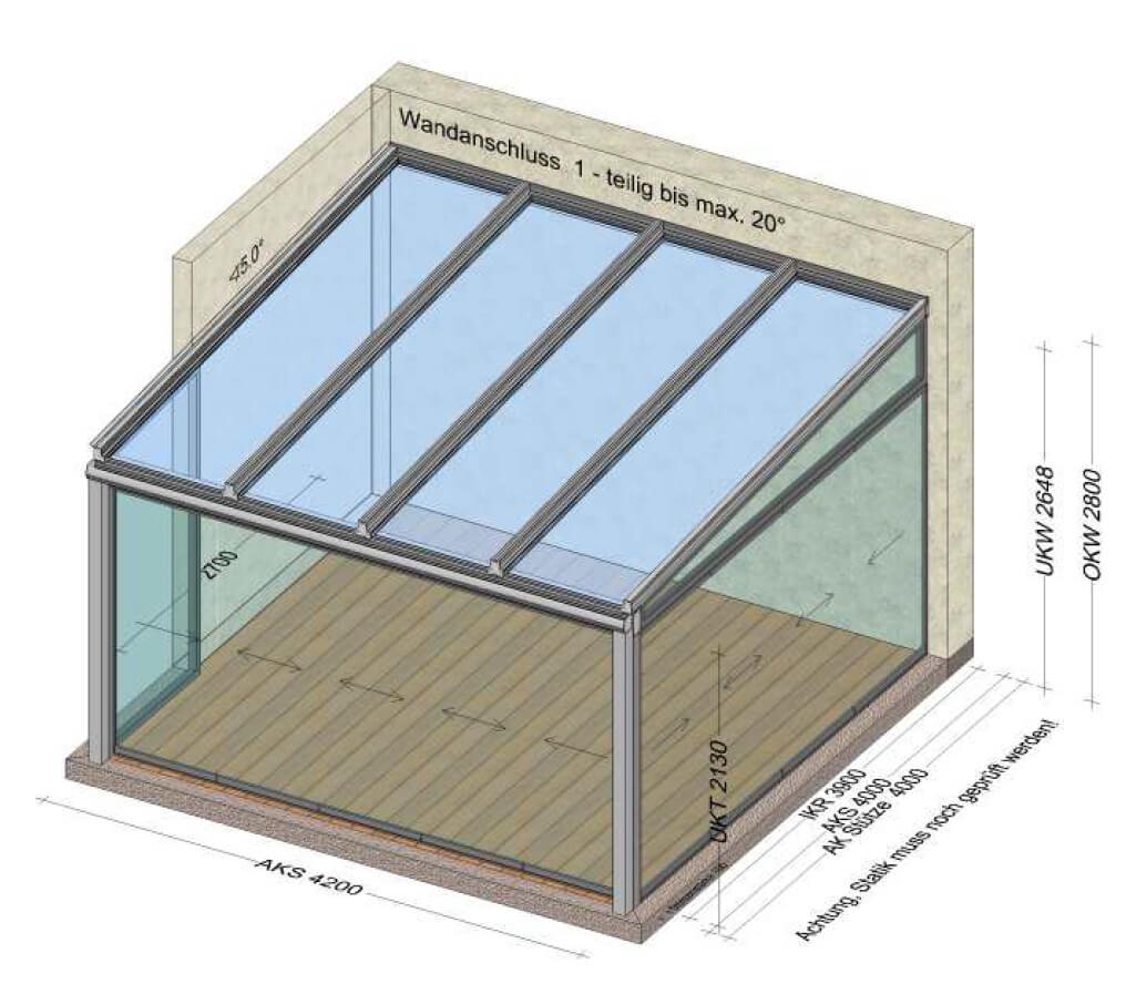Sommergarten mit Glas-Schiebewände 5 teilig und 4 teilig