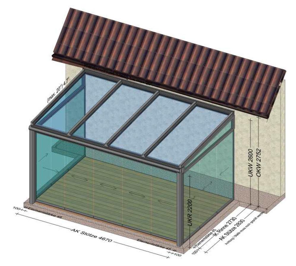 Sommergarten mit mehrteiligen Glasschiebetüren von Sunflex - Planung