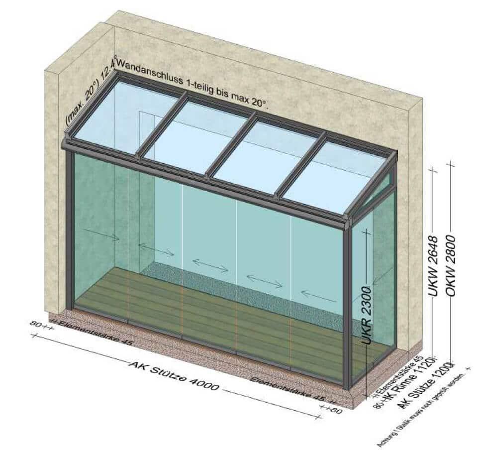 Sommergarten mit Schiebewänden - Planungen