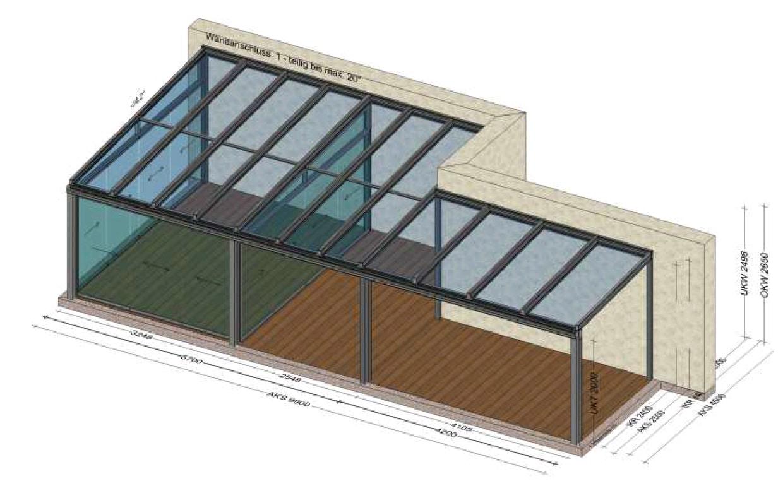 Sommergarten mit zusätzlicher Glasüberdachung