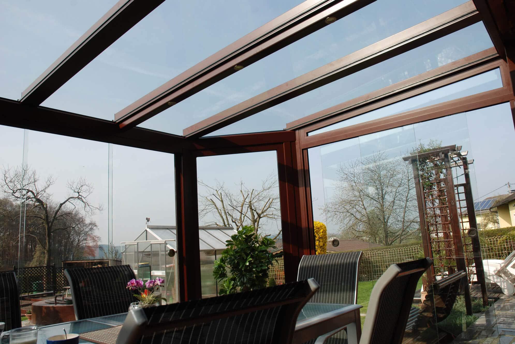 Sommergarten Pultdach Glas