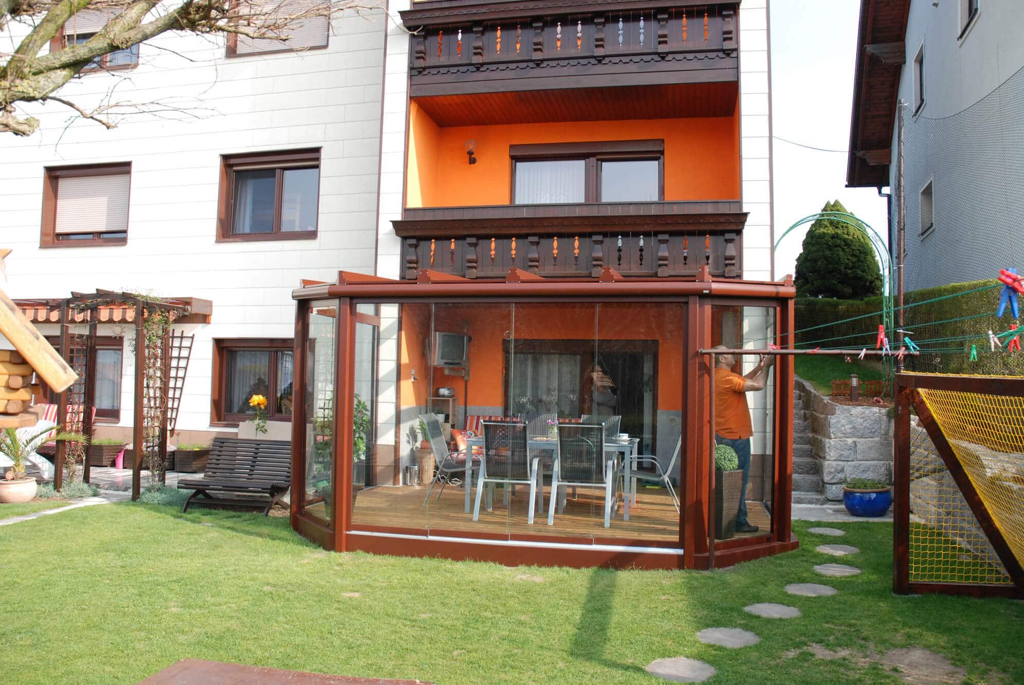 glasschiebewand terrasse wintergarten schmidinger. Black Bedroom Furniture Sets. Home Design Ideas