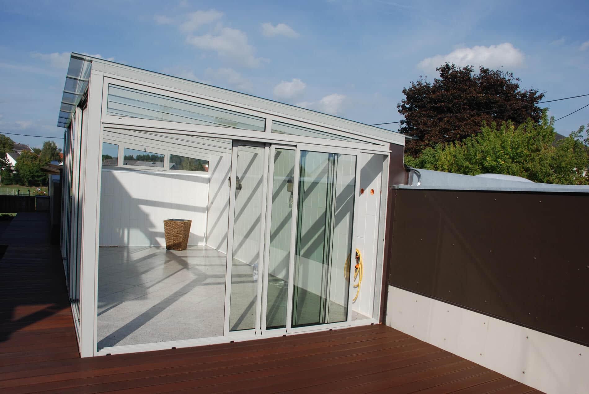 Sommergarten Terrasse Glas