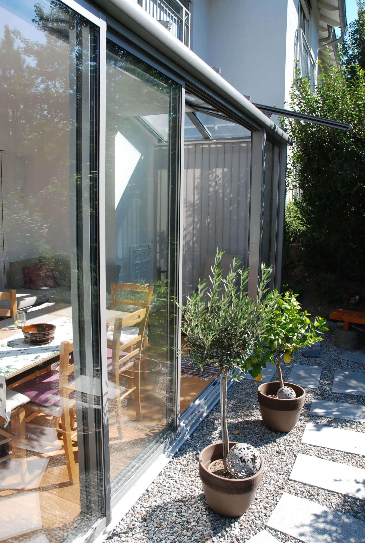 Sommergarten Terrasse Verglasung