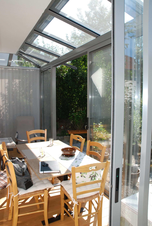 Sommergarten transparent Glas