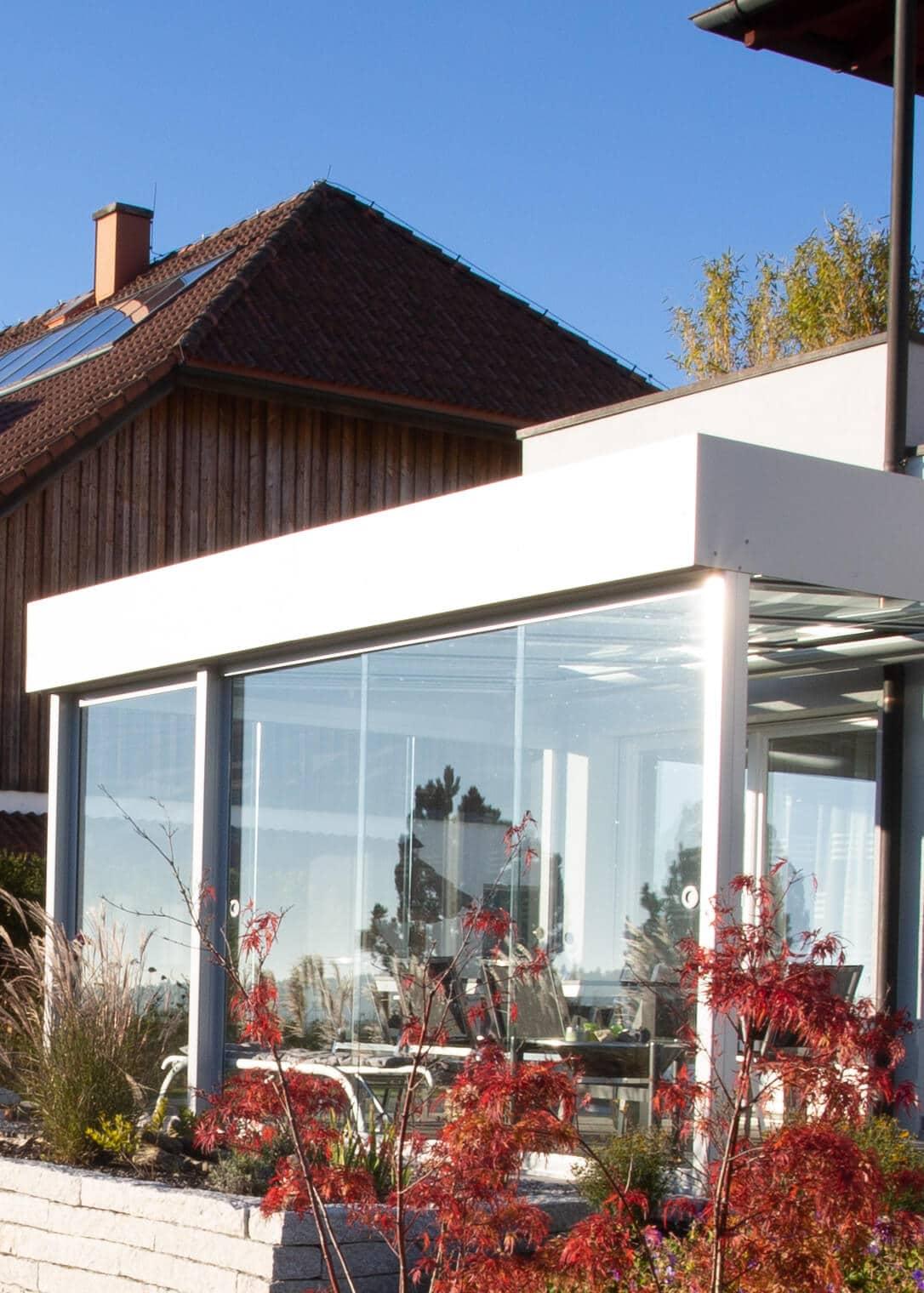 Sommergarten Windschutz für die Terrasse