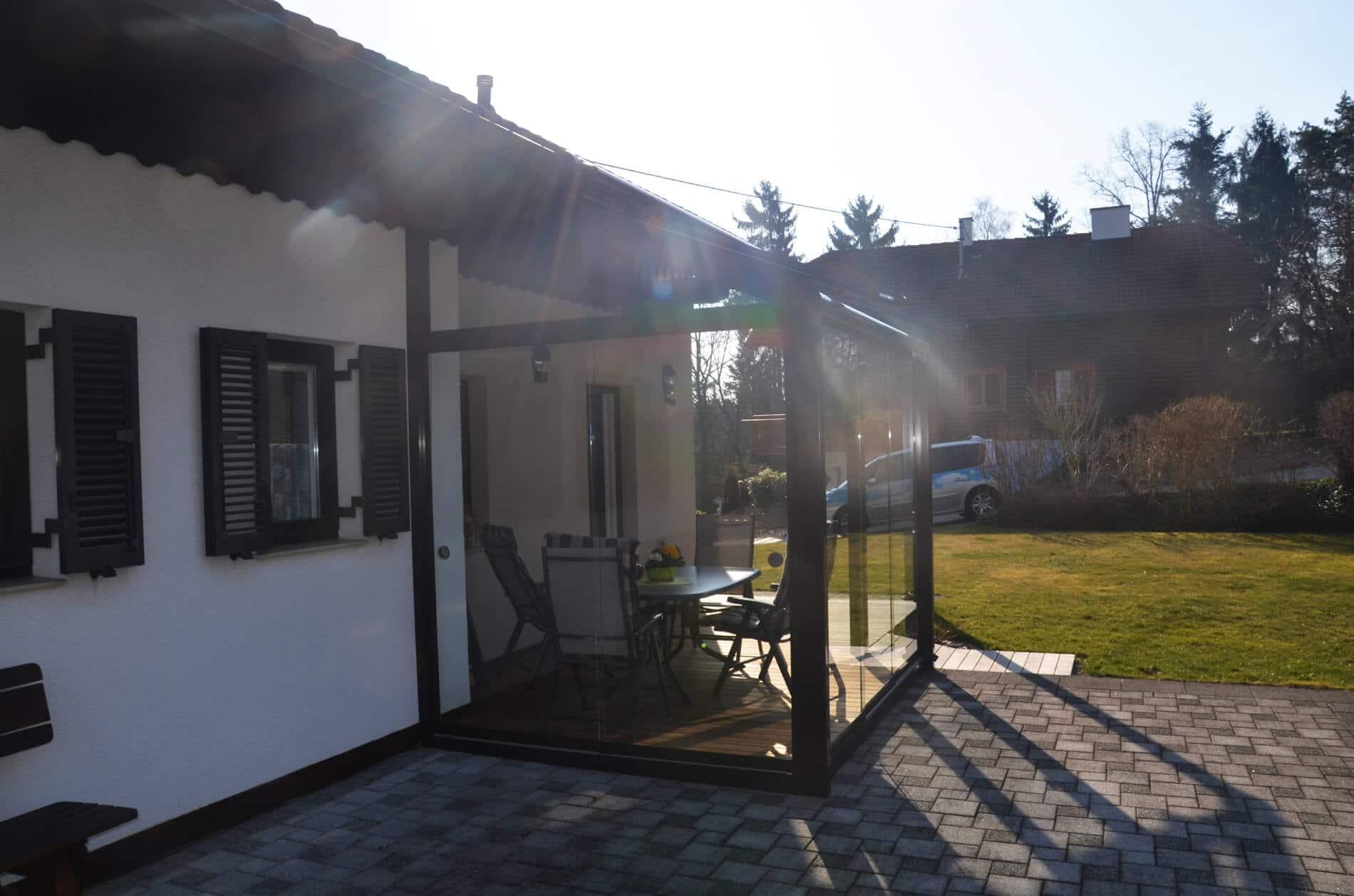 Sommergarten Windschutz für Terrasse