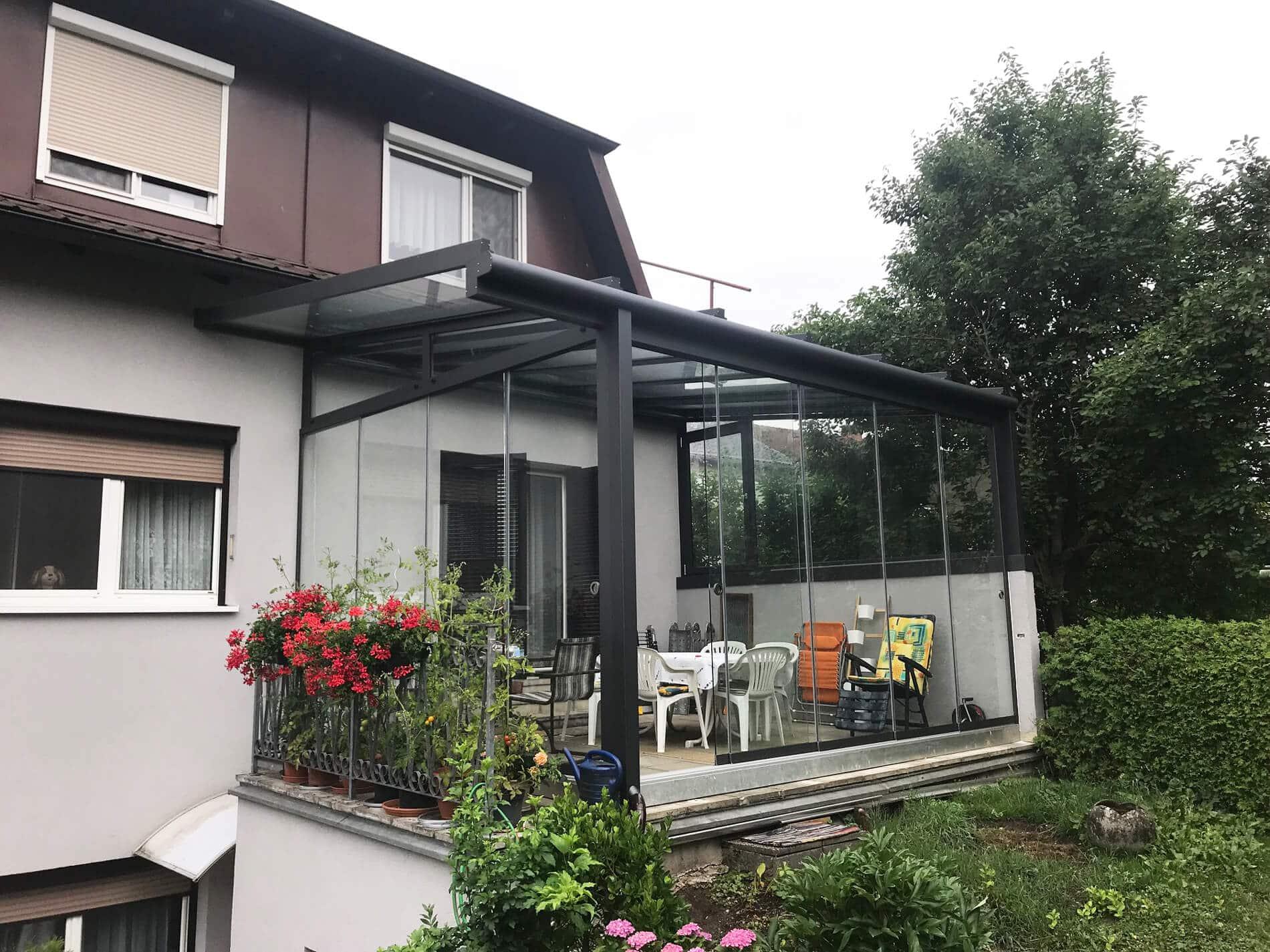 Sommergarten Windschutz für Terrassen