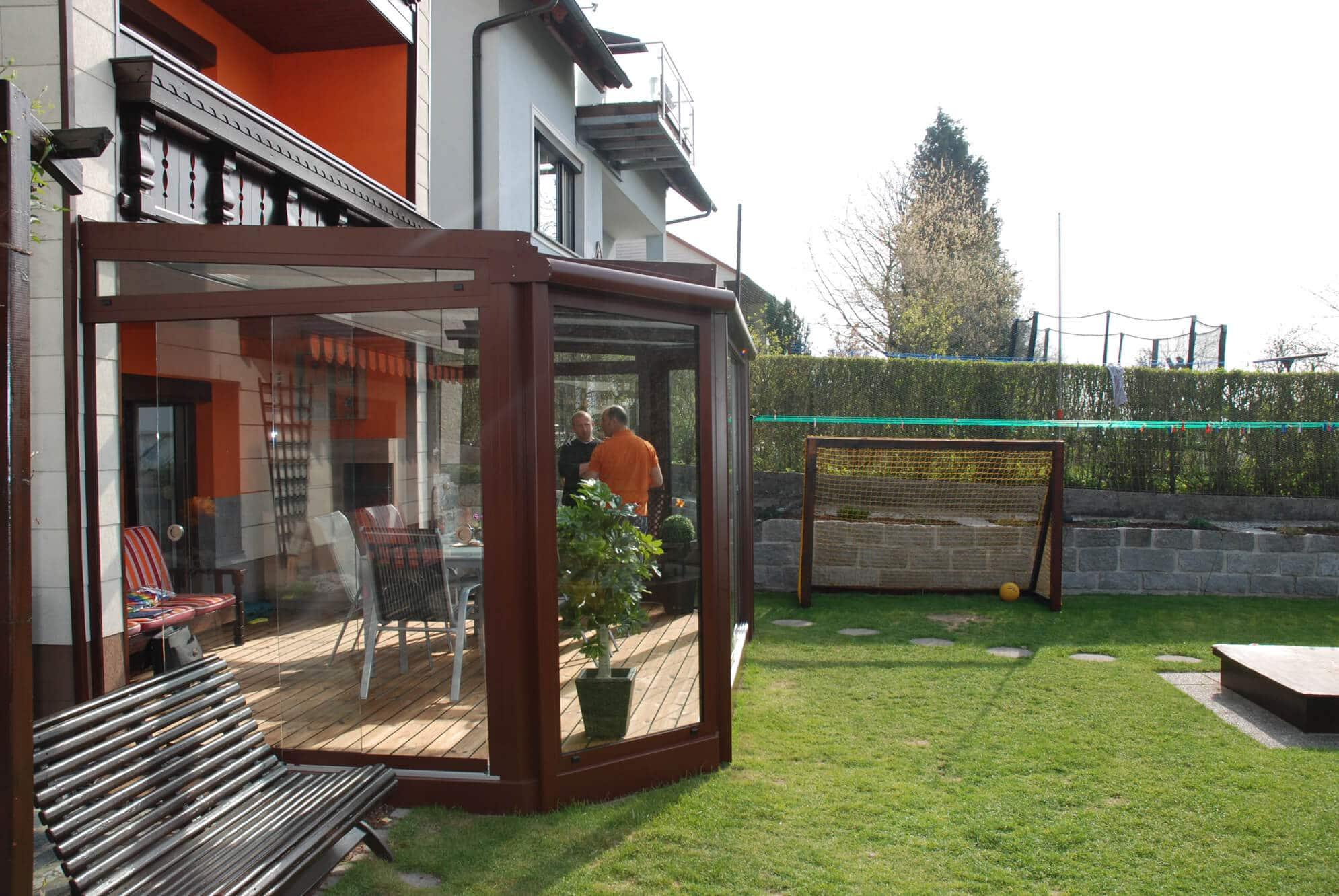Sommergarten Windschutz Terrasse