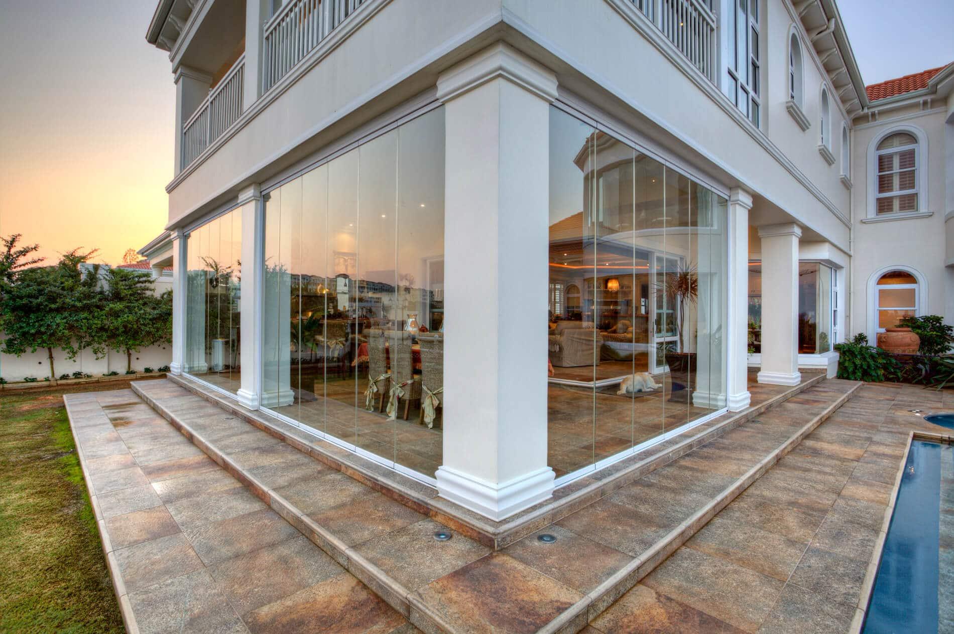 Sunflex SF 25 Glas-Schiebetüren für Terrasse und Wintergarten