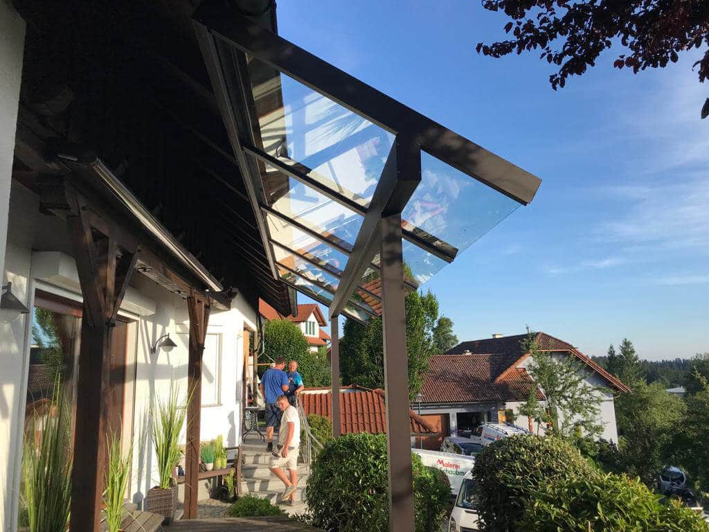 Terrasse Glasdach Alu in Oberösterreich