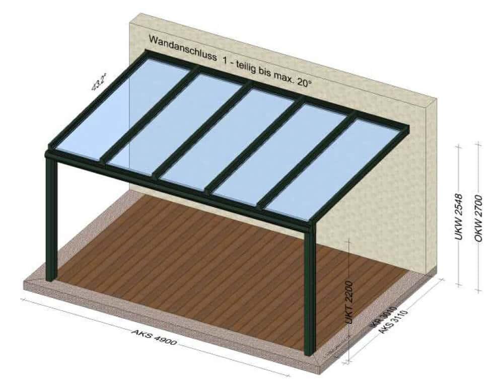 Terrasse mit Überdachung schützen